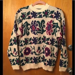 Vintage 70s/80s Gotham Pixelated Floral Sweater 6